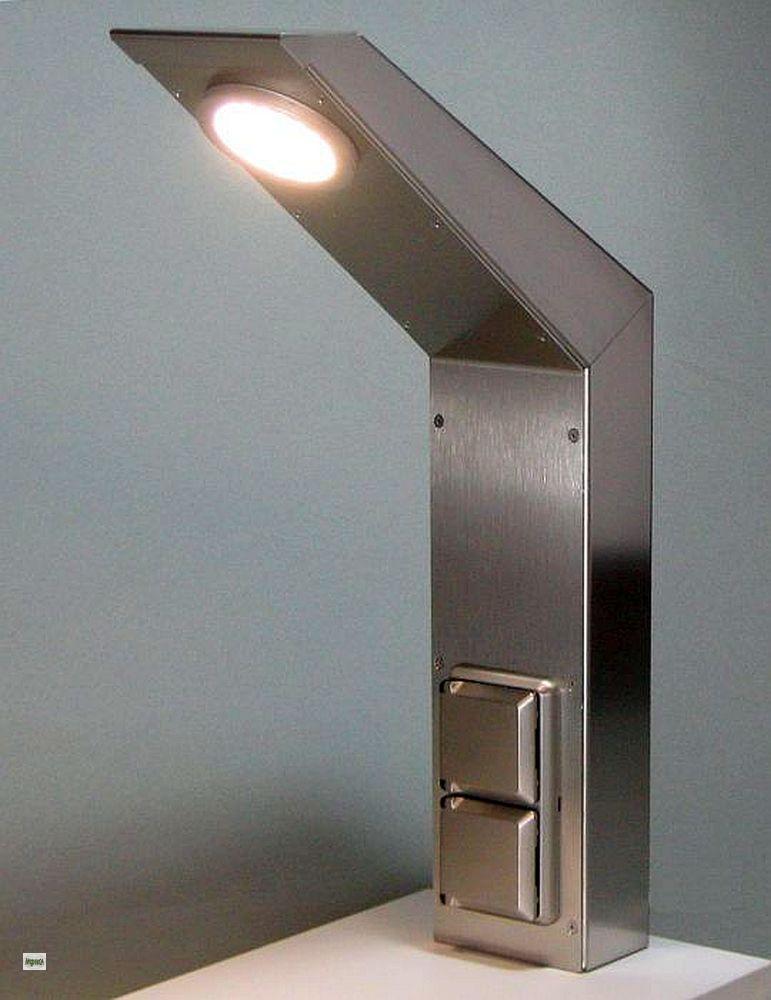 maxxport edelstahl k chen energiebox mit led licht 2. Black Bedroom Furniture Sets. Home Design Ideas