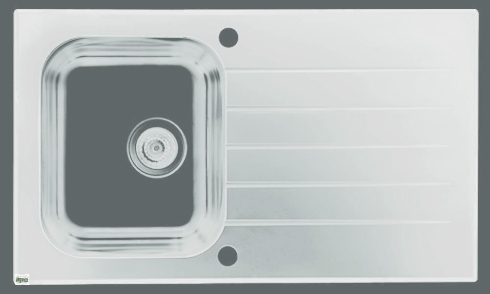 einbausp le edelstahl glas sp le glassix 10 k chen. Black Bedroom Furniture Sets. Home Design Ideas