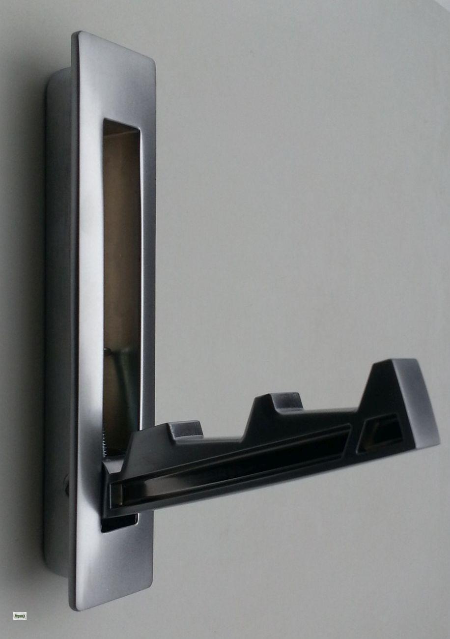 klapphaken garderobenhaken chrom matt kleiderhaken zum einnuten haken 1216 08 ebay. Black Bedroom Furniture Sets. Home Design Ideas