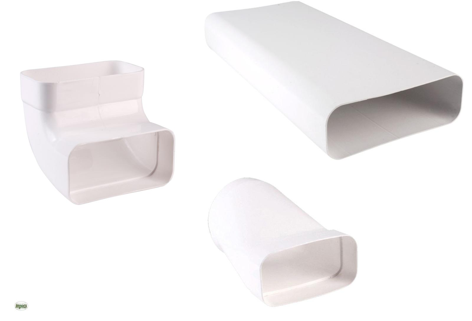abluftset flachkanal 150x70mm dunstabzug soft 125 k chen anschlussset 527601 a ebay. Black Bedroom Furniture Sets. Home Design Ideas