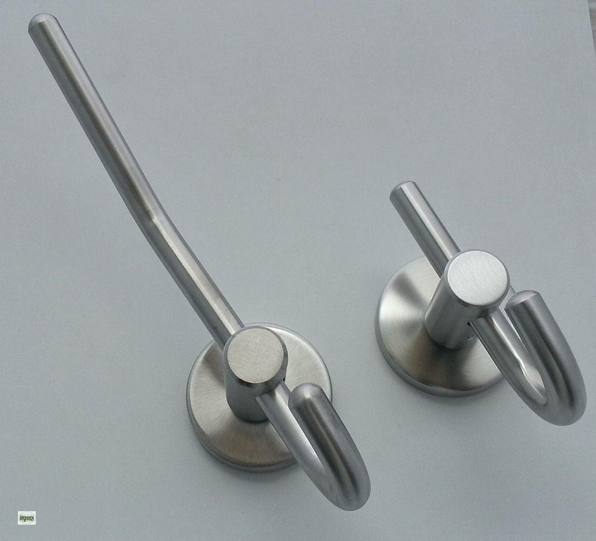 Acero inoxidable ganchos percheros de pared ganchos para for Ganchos metalicos para colgar ropa