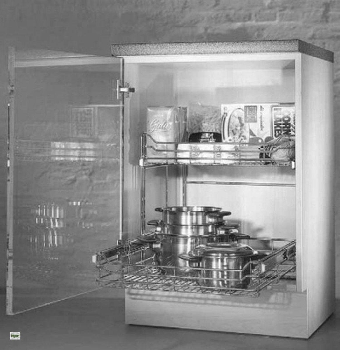 Wesco quickbasket teleskopauszug schrankauszug 40er for Schrankauszug küche