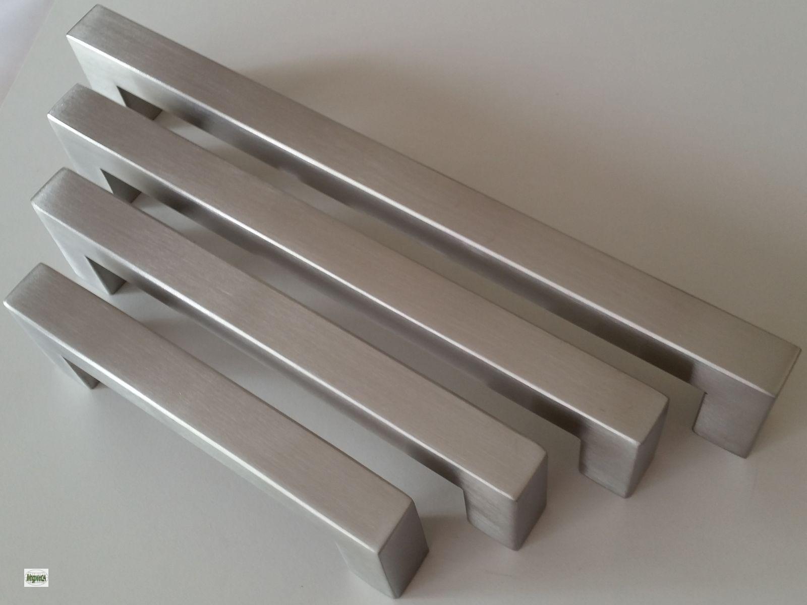 Cucina maniglie ba 96 128 160 192mm per mobili 14x14mm - Maniglie cucina acciaio ...