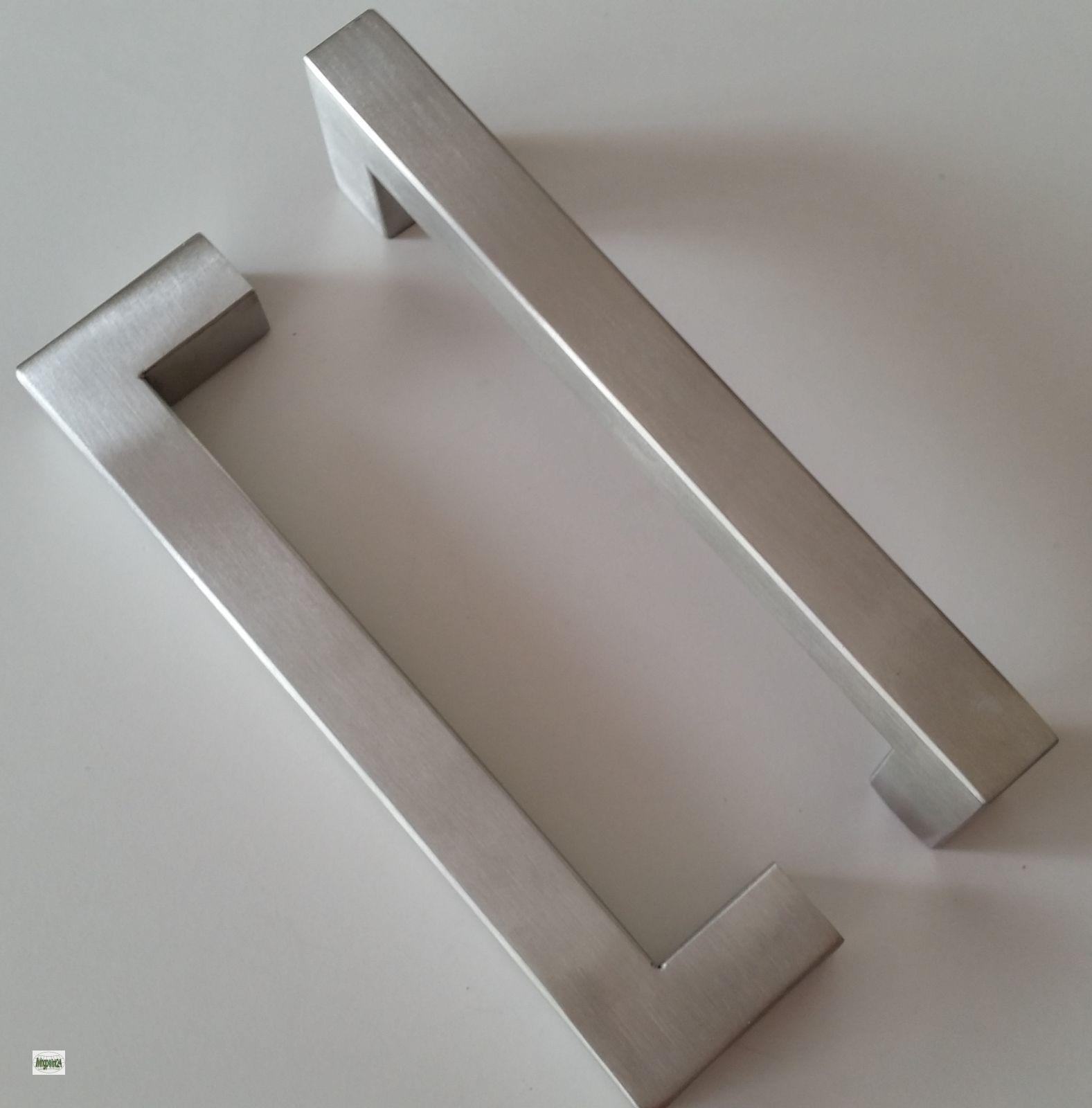 m belgriffe ba 96 128 160 192mm edelstahl geb rstet 14x14mm k chengriffe 605 a ebay. Black Bedroom Furniture Sets. Home Design Ideas
