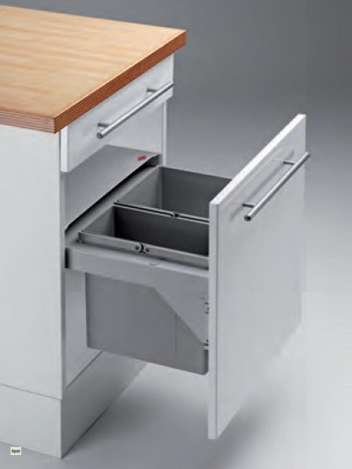 wesco pullboy soft k chen abfalleimer m lleimer 2x11 liter softeinzug 514830 ebay. Black Bedroom Furniture Sets. Home Design Ideas