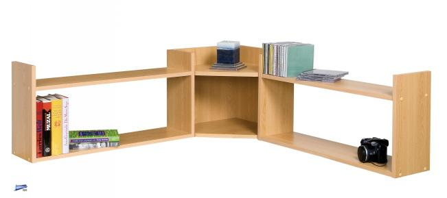 eckregal wandregal k chenregal wandbord regal b cherregal buche nb 915 ebay. Black Bedroom Furniture Sets. Home Design Ideas