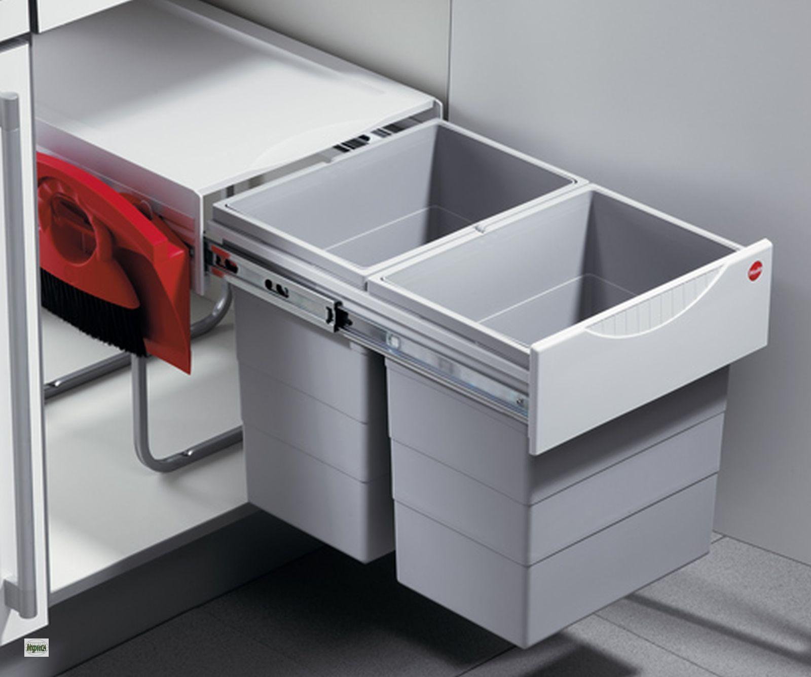 Hailo big tandem 40 2 cubo de basura cocina 2x20 litros - Cubo basura cocina ...