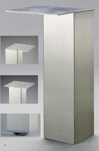 st tzfuss 80x80 tischbein edelstahl innenliegende rolle h 87cm tischbeine 41154 ebay. Black Bedroom Furniture Sets. Home Design Ideas