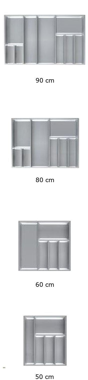 besteckeinsatz schubladeneinsatz 50 60 80 90cm besteckkasten hettich arcitech ebay. Black Bedroom Furniture Sets. Home Design Ideas