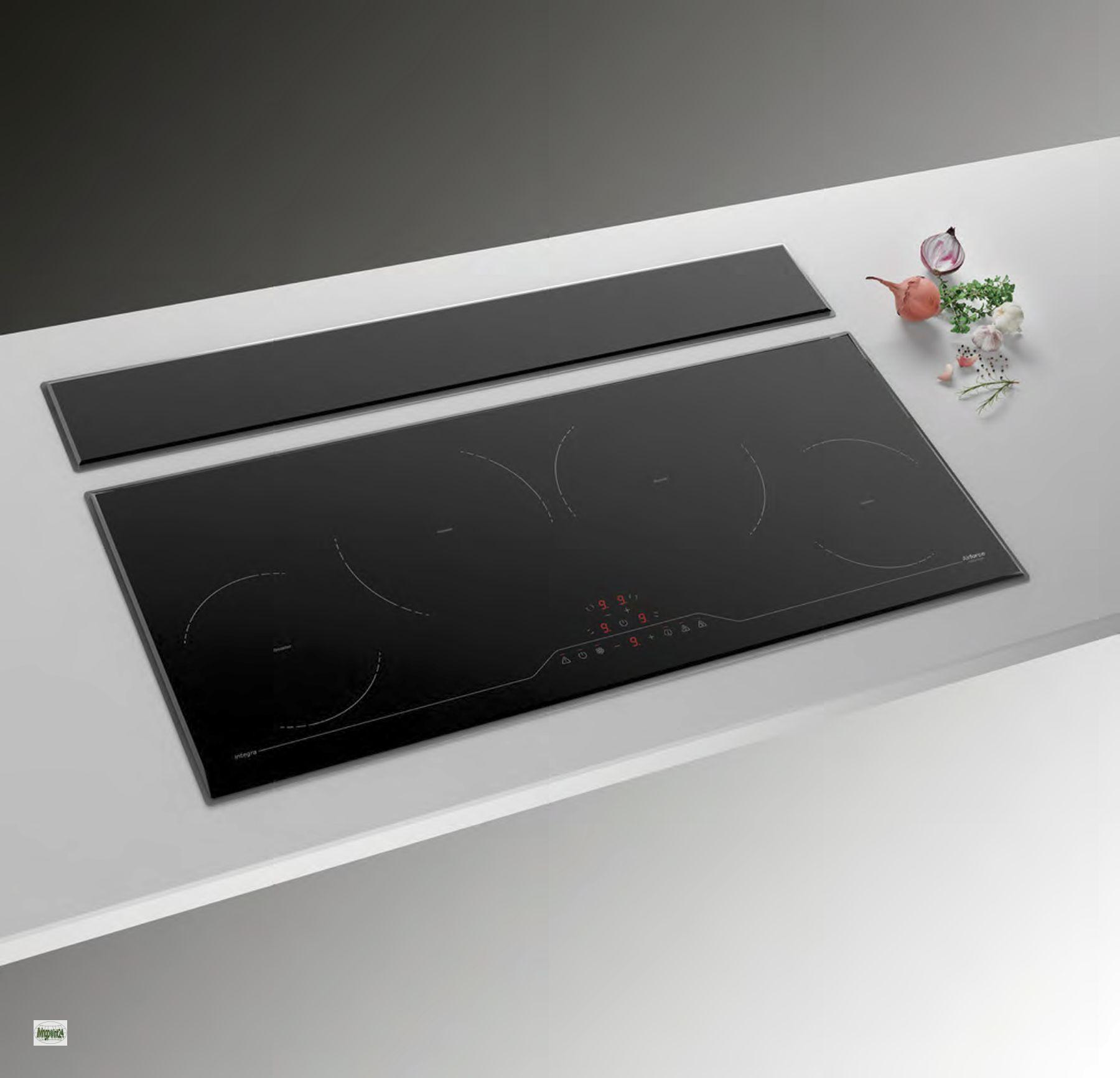 induktions kochfeld 4 kochfelder timer abzugshaube edelstahl glas touch 551255 ebay. Black Bedroom Furniture Sets. Home Design Ideas