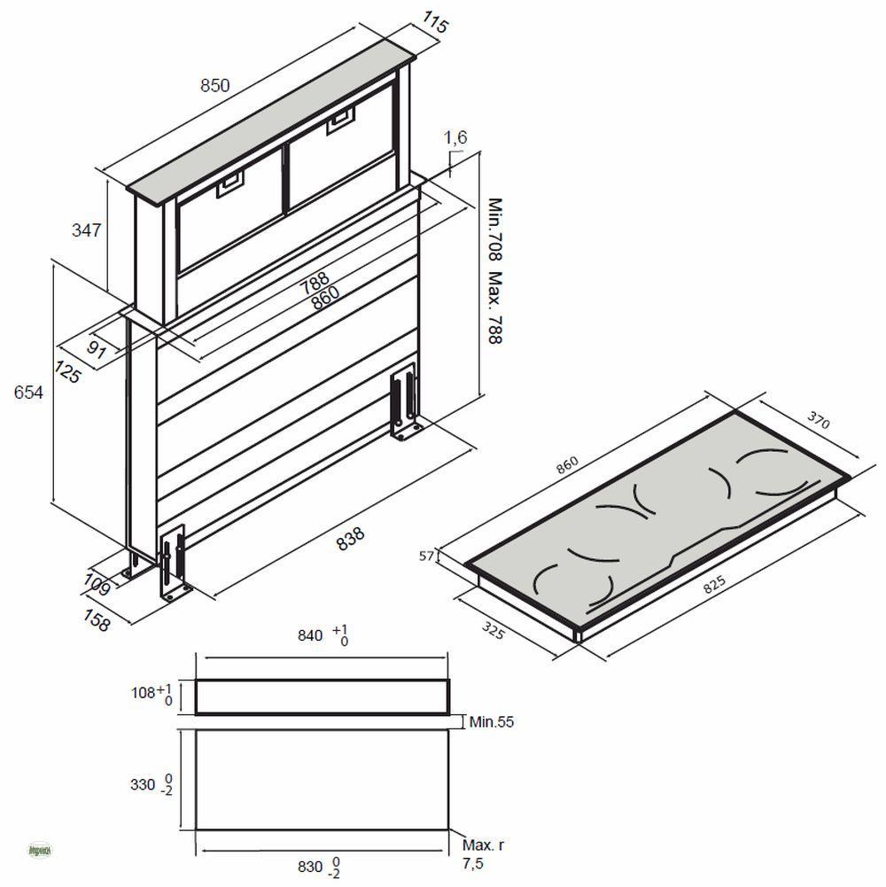 induktions kochfeld 4 kochfelder timer abzugshaube. Black Bedroom Furniture Sets. Home Design Ideas