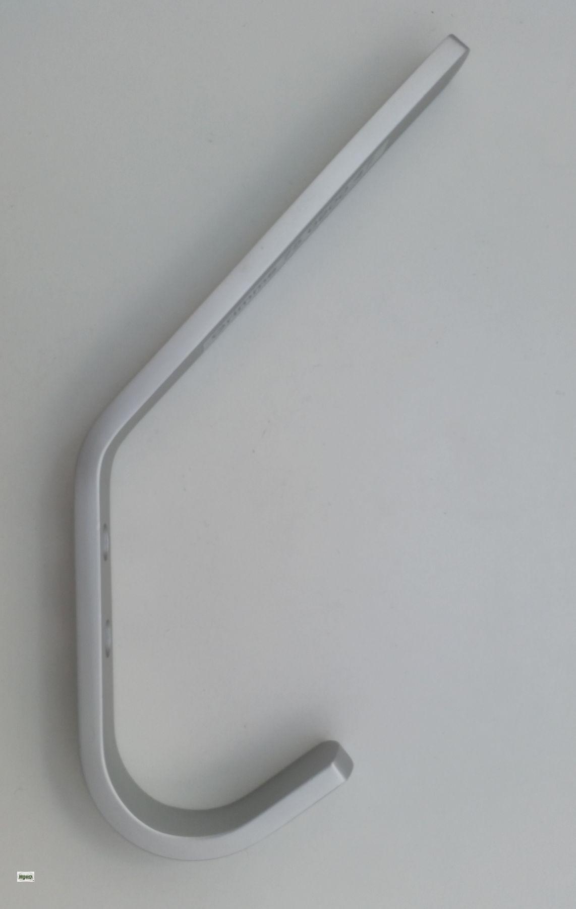 garderobenhaken lang wandhaken mantelhaken aluminium kleiderhaken haken 522 la ebay. Black Bedroom Furniture Sets. Home Design Ideas