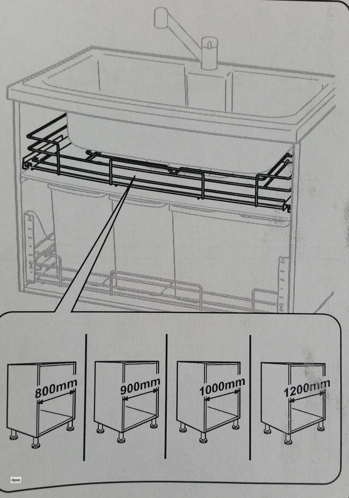 k chenauszug f r 80cm sp lenunterschrank schrankauszug sifonausschnitt 485 19 ebay. Black Bedroom Furniture Sets. Home Design Ideas