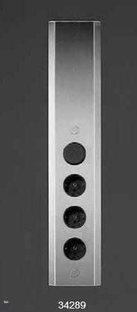3 fach k chen teleskop steckdose mit schalter f r wandmontage energiebox 34289 ebay. Black Bedroom Furniture Sets. Home Design Ideas