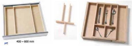 holz besteckeinsatz schubladeneinsatz variabel 40 60cm buche besteckkasten 41380 ebay. Black Bedroom Furniture Sets. Home Design Ideas