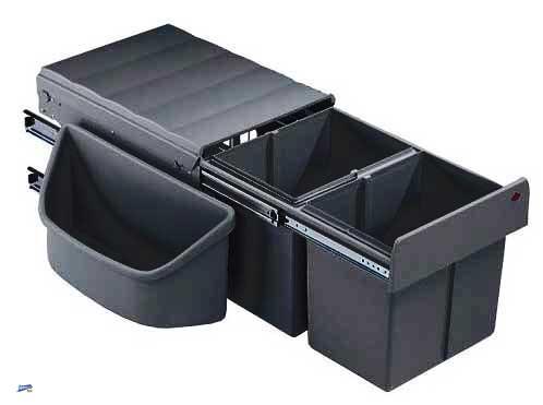 wesco cornerboy eckschrank 3 fach abfalleimer k che vollauszug m lleimer 40302 ebay. Black Bedroom Furniture Sets. Home Design Ideas