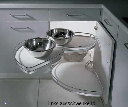kesseb hmer schwenkauszug le mans drehboden k chenschrank inkl achsrohr ebay. Black Bedroom Furniture Sets. Home Design Ideas
