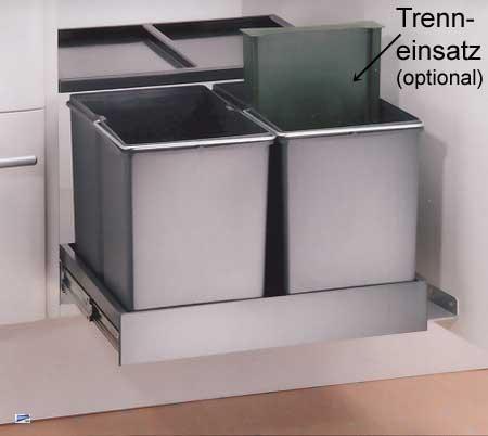 Wesco Automatic Shorty 2x15 Liter 2-fach Abfalleimer Küche ...