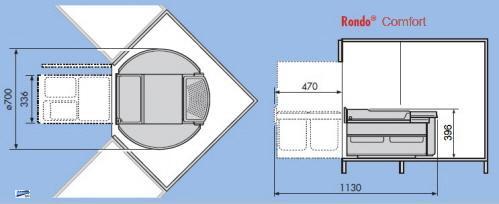 Hailo Rondo Abfalleimer Küche 2x20l Eckschrank 360° drehbar inkl ... | {Eckschrank küche maße 88}