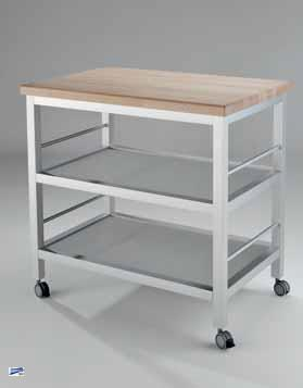 wesco worktable 40 k chenwagen 890x900x550 servierwagen beistellwagen mit rollen ebay. Black Bedroom Furniture Sets. Home Design Ideas