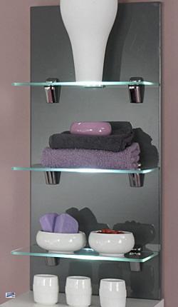 badezimmer glasregal badregal wandregal regal mit led licht und glasb den 5419. Black Bedroom Furniture Sets. Home Design Ideas