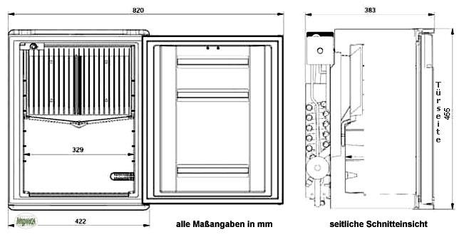 Mini Einbaukühlschrank