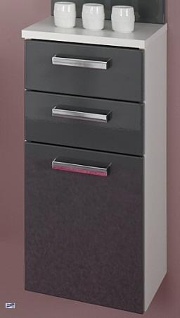 badschrank 30x66x30 h ngeschrank badm bel unterschrank weiss hg grau 5306 79 ebay. Black Bedroom Furniture Sets. Home Design Ideas