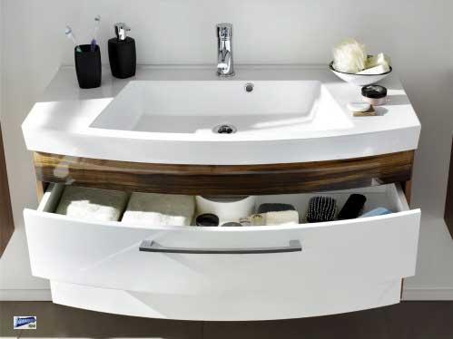 waschplatz 100x57x50cm badm bel waschtisch 2 schubladen. Black Bedroom Furniture Sets. Home Design Ideas