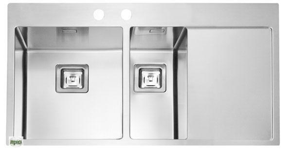 Designspüle Edelstahl Einbauspüle Stylux 60 Küchenspüle 1 1/2 ... | {Spülbecken edelstahl eckig 13}