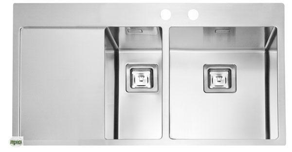 Einbauspüle Edelstahlspüle Stylux 60 Küchenspüle 1,5 Becken Spüle ...