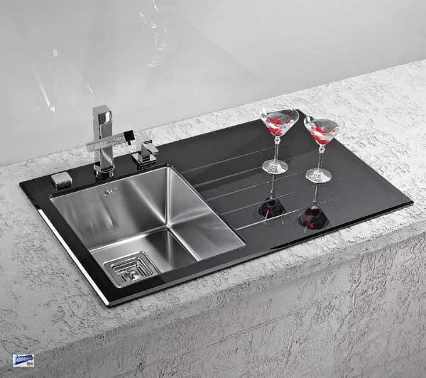 design einbausp le edelstahlsp le glassp le k chensp le. Black Bedroom Furniture Sets. Home Design Ideas