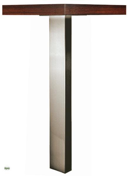 st tzfuss h 72cm tischbein ansetztisch h henverstellbar 100x50mm chrom edelstahl ebay. Black Bedroom Furniture Sets. Home Design Ideas
