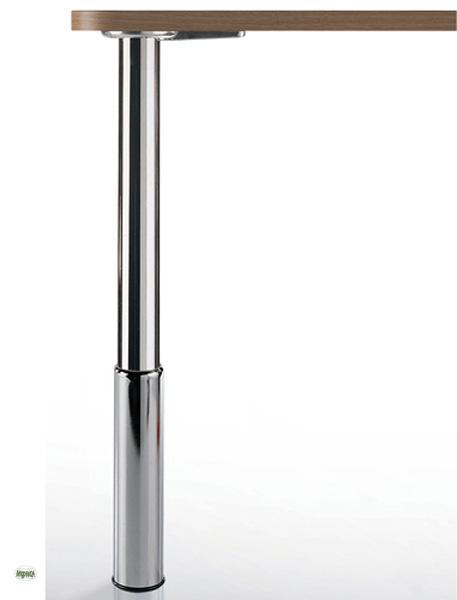 tischbein edelstahl optik chrom st tzfuss 92 110cm. Black Bedroom Furniture Sets. Home Design Ideas