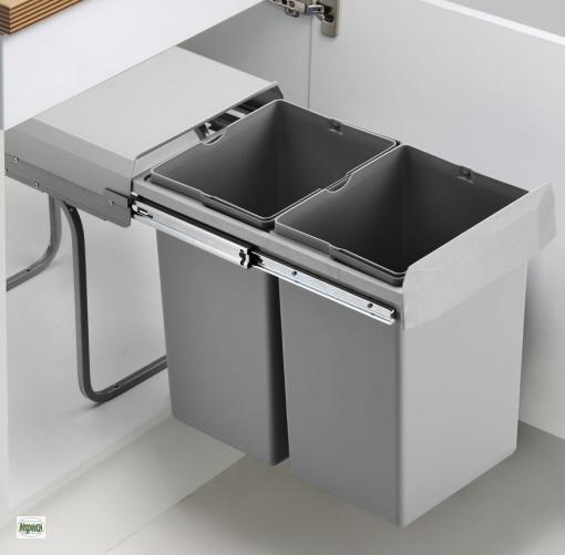 Afvalbak Keuken Blokker : Details zu Wesco Double Boy Deluxe 2x15L K?chen Abfalleimer 30-er