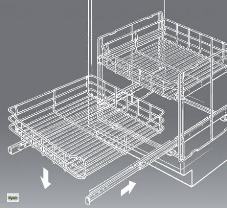 wesco quickbasket 40 er k chenschrank auszug. Black Bedroom Furniture Sets. Home Design Ideas
