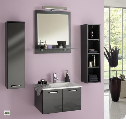 4 tlg badm belset waschplatz 60cm spiegel g ste wc h ngeschrank regal badm bel ebay. Black Bedroom Furniture Sets. Home Design Ideas