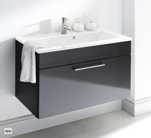 Waschtischplatte mit schublade gäste wc  Waschtisch 90x53x55cm Waschplatz Schublade Badmöbel Gäste WC ...