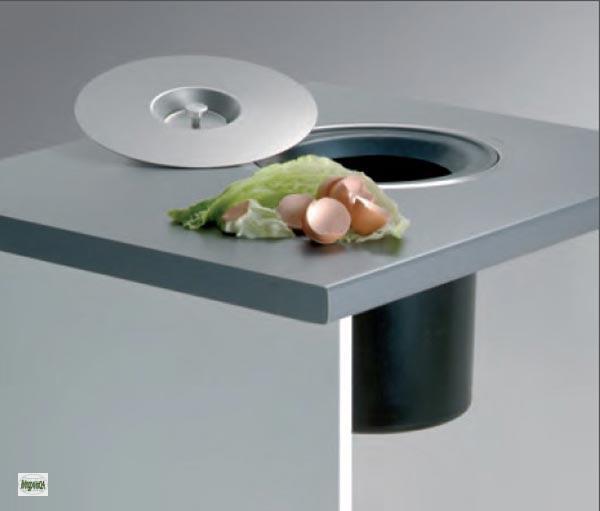 wesco ergomaster 5 l arbeitsplatten einbau bio abfalleimer. Black Bedroom Furniture Sets. Home Design Ideas