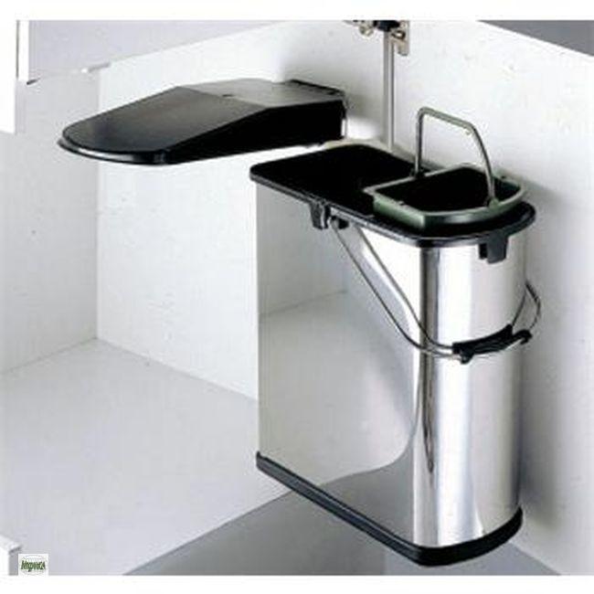 wesco edelstahl k chen abfalleimer ko bad m lleimer 14 5 liter biom ll 514915 ebay. Black Bedroom Furniture Sets. Home Design Ideas