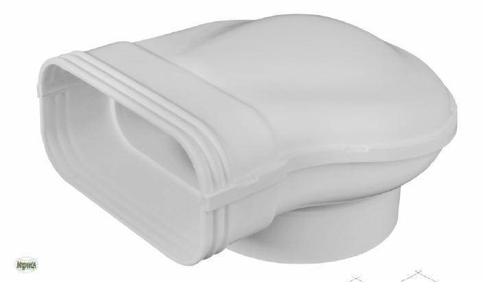 volumina 150 flachkanal 220x90mm umlenkst ck flach 150 er abluftkanal 50313 ebay. Black Bedroom Furniture Sets. Home Design Ideas