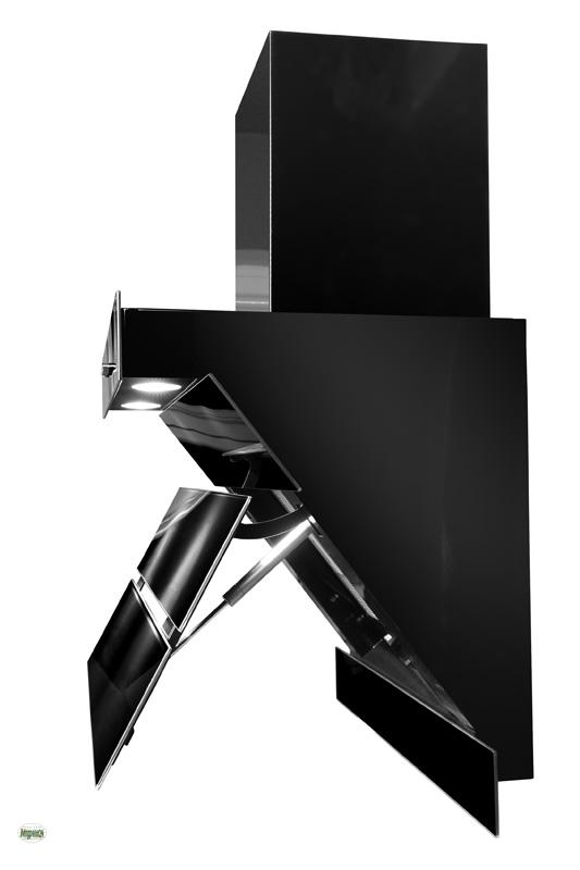 dunstabzugshaube 60cm kopffrei abzugshaube 420m h glas black ab umluft 30860 ebay. Black Bedroom Furniture Sets. Home Design Ideas
