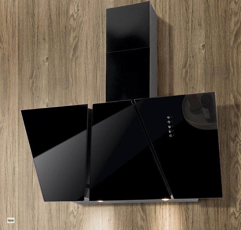 k chen dunstabzug abzugshaube 60cm kopffrei 125mm anschluss glas schwarz 30460 ebay. Black Bedroom Furniture Sets. Home Design Ideas