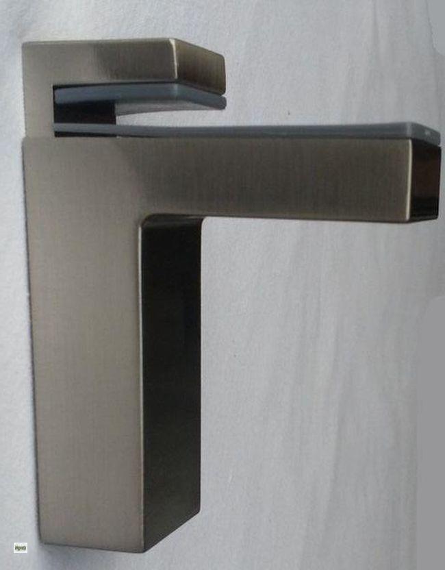 glasbodentr ger edelstahl glasbodenhalter regalbodentr ger 8 50mm tablartr ger ebay. Black Bedroom Furniture Sets. Home Design Ideas