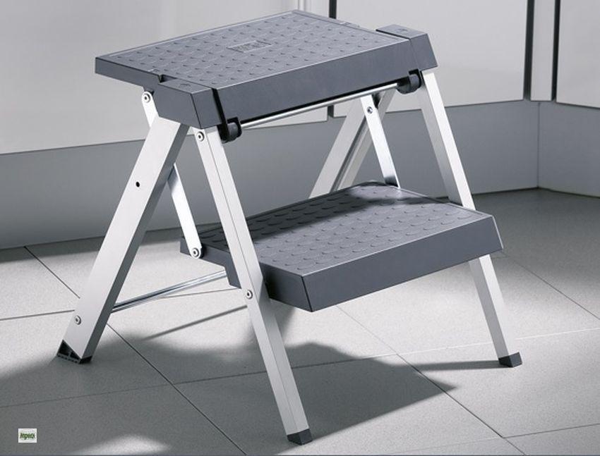 hailo stepfix klapptritt 2 stufen sockel einbauleiter 50. Black Bedroom Furniture Sets. Home Design Ideas