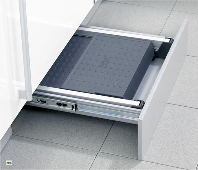 hailo stepfix klapptritt 2 stufen sockel einbauleiter 50 er schublade 44401 b ebay. Black Bedroom Furniture Sets. Home Design Ideas