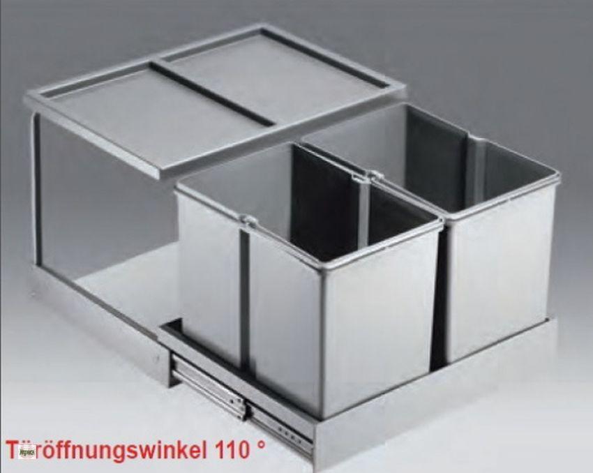 wesco shorty automatic 50 er schrank k chen m lleimer 2x15l abfalleimer 40741 b ebay. Black Bedroom Furniture Sets. Home Design Ideas