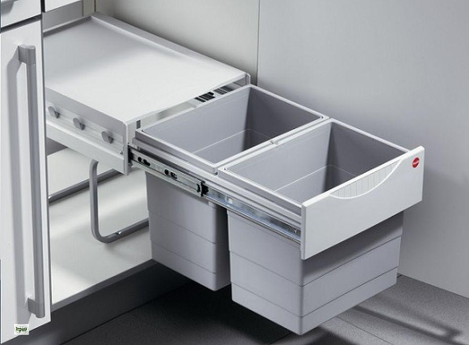 Fantastisch Hailo Raumspar Tandem 2x18L Abfalleimer Küchen Unterschrank  ZL57