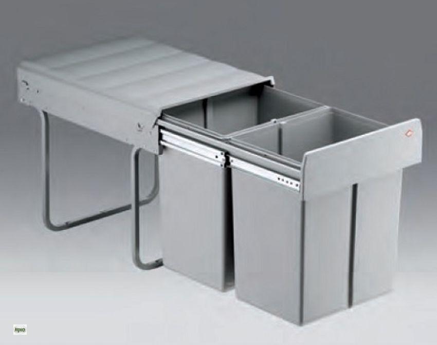 wesco double master maxi 40 dt k chen m lleimer 2x20l abfallsammler 515523 b ebay. Black Bedroom Furniture Sets. Home Design Ideas