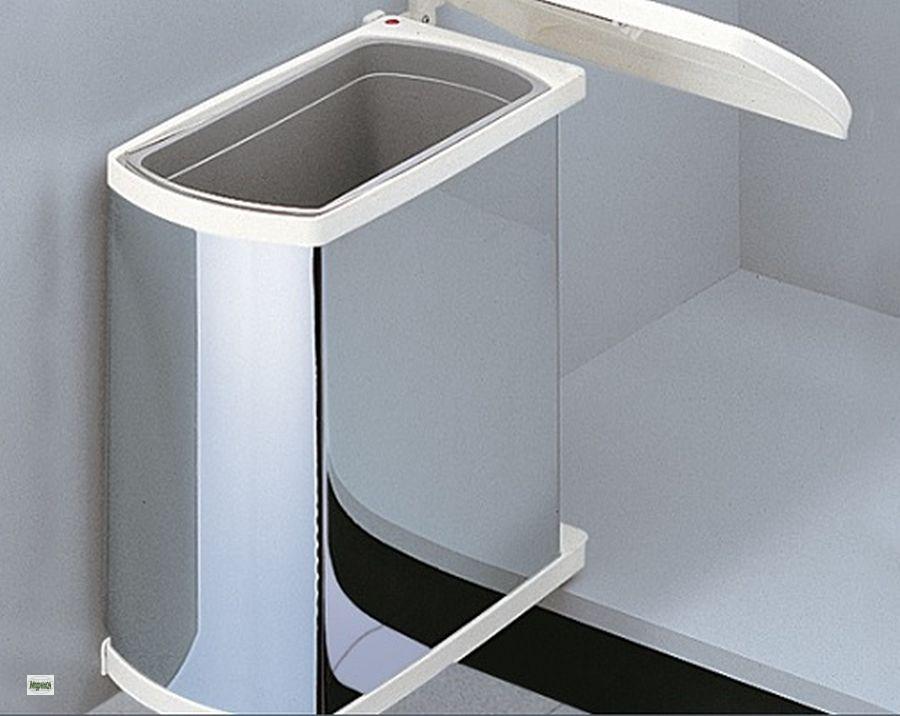 hailo uno abfalleimer 1x18 liter edelstahl 45er k chenschrank m lleimer 43428 a ebay. Black Bedroom Furniture Sets. Home Design Ideas