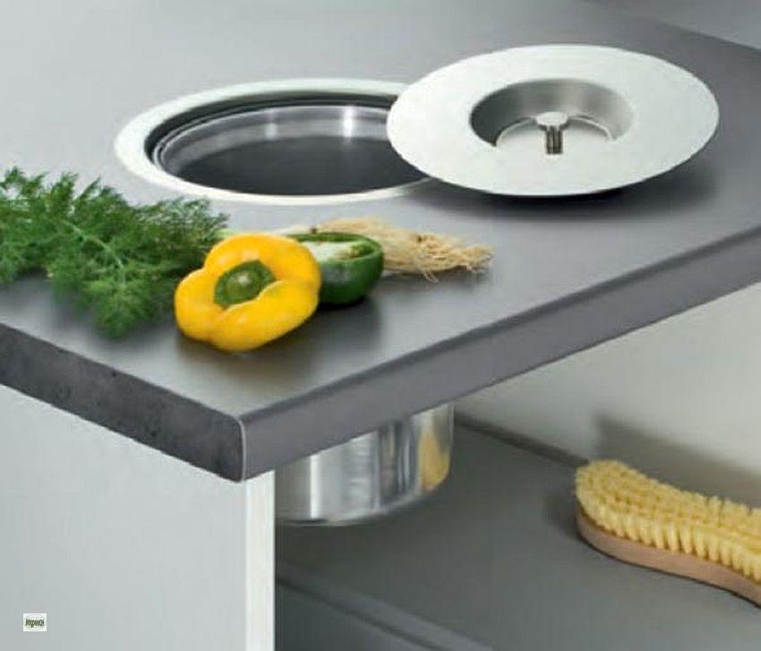 wesco ergomaster 5 liter arbeitsplatten einbau biom ll eimer m lleimer 514663 b ebay. Black Bedroom Furniture Sets. Home Design Ideas